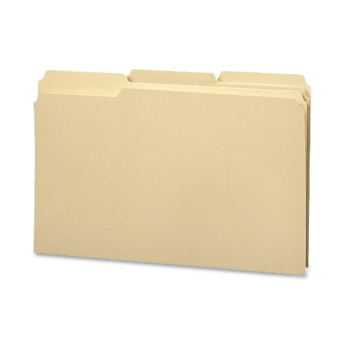 Recycled Two-Ply File Folders, 1/3 Cut Top Tab, Legal, Manila, 100/Box (並行輸入品) B000J09ROQ