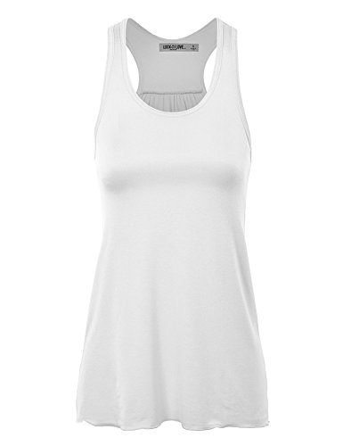 WT830 Womens Everyday Racer Tank XL WHITE_RAYON