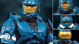 Halo 2009 McFarlane Toys Exclusive Deluxe Action Figure Boxed Set Teal Armor Pack (All Teal ODST, EVA and CQB Armors) - Deluxe Armor Pack