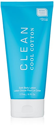 Clean Soft Body Lotion, Cool Cotton, 6 Ounce