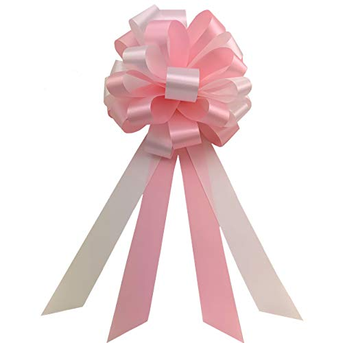 Pink and White Pull Bows - 8