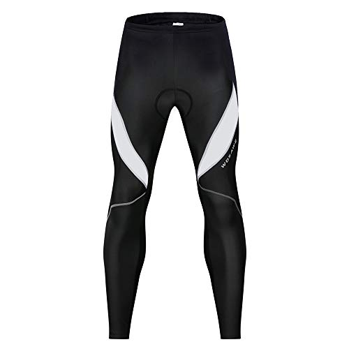 WOSAWE Cycling Bib Pants Breathable Men Long Trousers 3D Gel Padded Tights Legging for Spring Autumn