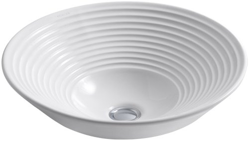 KOHLER K-2191-0 Turnings Vessels Bathroom Sink, White