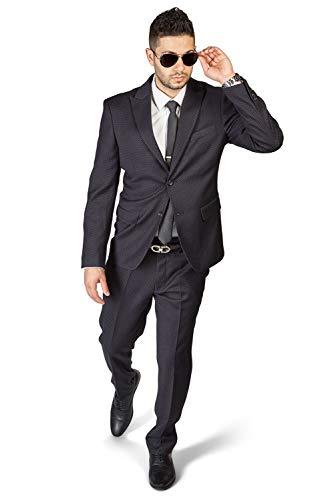 슬림 피트 2 버튼 피크 옷깃 벌집 DAPPER 디자인 현대 정장 AZAR1706