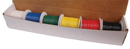 Stellar Labs Hook-Up Wire Dispenser Kit Box With Six 25Ft...
