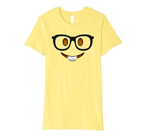 Womens Nerd Halloween Group Emoji Costume Shirt Small Lemon (Nerd T Shirts)