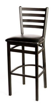Oak Street Bar Stool metal ladder back seat to be specified black - SL2301