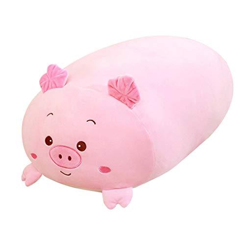 (Aribelly Yellow Dog Pink Pig Blue Penguin Green Crocodile Stuffed Animals Plush Toy Animals Cushion (Pink Pig)