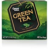 Great Value Green Tea Tea Bags, 40ct Review and Comparison