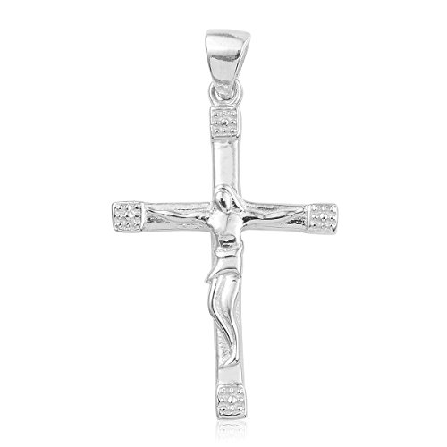 Jesus 925 Sterling Silver Boho Handmade Cross Pendant Prayer Necklace for Women Jewelry ()