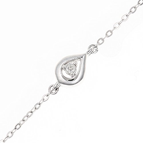 Naava Femme 9 carats (375/1000) Or blanc Rond Blanc Diamant