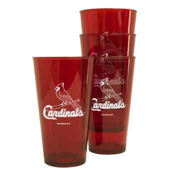 St Louis Cardinals Plastic Pint Glass Set