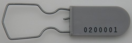 500 Grey Wire Padlock Tamper Evident Safety Lock Electric Meter Security Seal by AZippysale