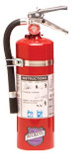 Buckeye 25914 Purple K Dry Chemical Hand Held Fire Extinguisher with Aluminum Valve and Vehicle Bracket, 5 lbs Agent Capacity, 5-1/8