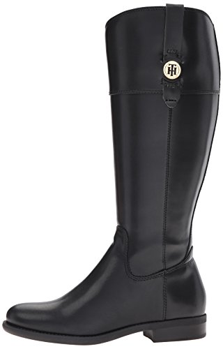 Tommy Hilfiger Women's Shano-wc Riding Boot, Black, 8.5 M US