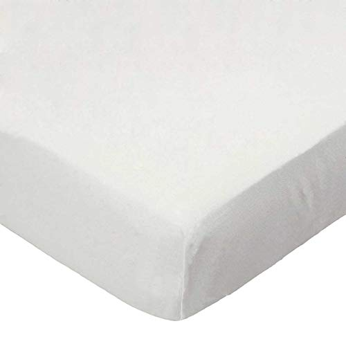 SheetWorld Fitted Portable / Mini Crib Sheet - Solid Ivory Jersey Knit - Made In USA