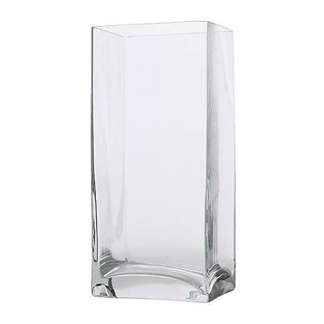Ikea Rektangel Vaso In Vetro Trasparente 22 Cm Amazon It Casa