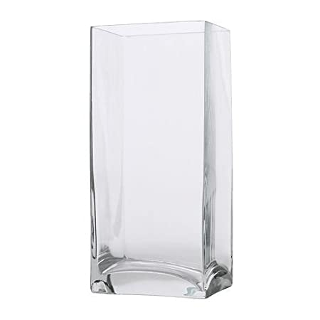 Ikea Rektangel Vase Clear Glass 22 Cm Amazon Kitchen Home