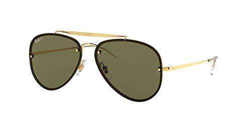 Ray-Ban Unisex Sunglasses, Gold Lenses Steel Frame, 58mm (Ban Frame Ray Steel)
