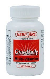 GeriCare Once Daily Multi Vitamins Tablet 100 ct (6 Pack)