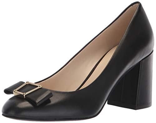 Cole Haan Women's Emory Grand Bow Pump (75MM), Black Leather, 8 B US - Heel Pumps High Cole Haan