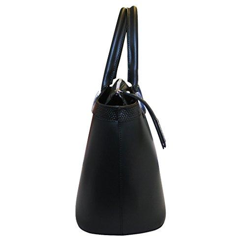 Nicoli 'Eleganza' designer italien sac fourre-tout en cuir de mariage sac à main - noir