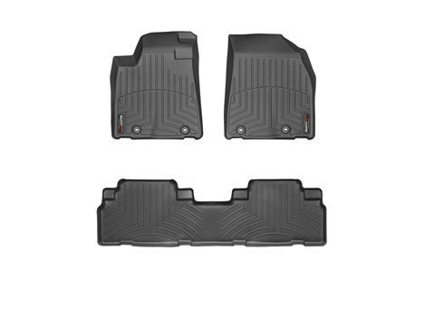 2013-2015 Lexus RX-Weathertech Floor Liners-Full Set (Includes 1st and 2nd Row) Black