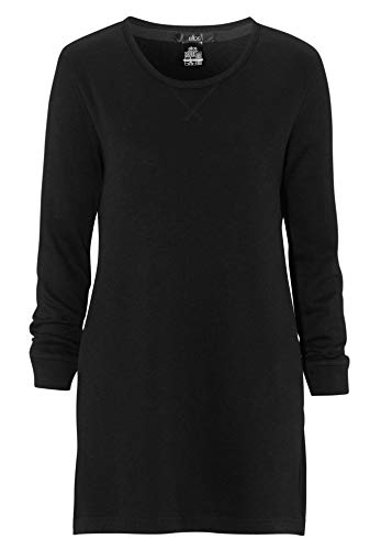 Ellos Women's Plus Size French Terry Tunic Dress Black,2X (Boatneck Terry Top)