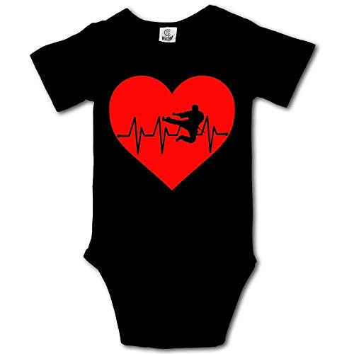 - Heartbeat Karate Baby Newborn Infant Creeper Short Sleeves Romper Bodysuit Onesies Jumpsuit