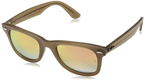 Ray-Ban Kids' Wayfarer Non-Polarized Iridium Square Sunglasses, Beige, 50 - Beige Clubmaster Ray Ban
