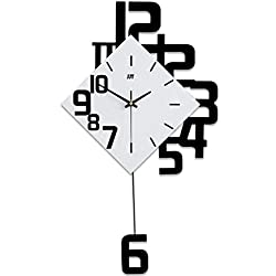 GZD Modern Luxury 3D Wall Clock,Abstract Style DIY Iron Wall Clock Living Room Iron Pendulum Clock Home,3463Cm,Without Batteries