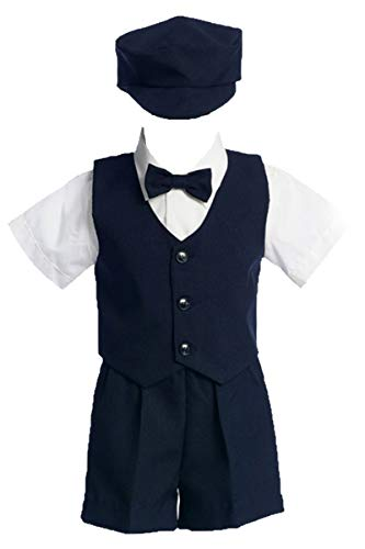 Lito Toddler Boys Navy Vest Shorts Easter Ring Bearer Suit 3T -