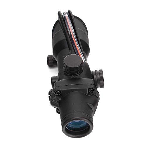 Terminus Optics Black TOC1 Chevron Reticle Red Fiber 4x32 Magnification Rifle Scope Terminus LLC (Best Acog For Ar15)