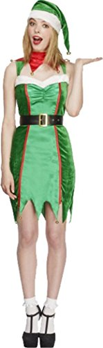 Fever Naughty Elf Costume Green Uk Dress 12-14