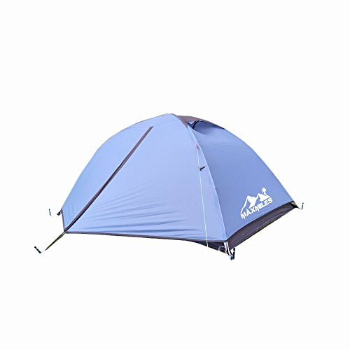 MaxMiles 1 2 Person Premium Backpacking Tent Ultra-Lightweight 20D Nylon Taffeta Rip-Stop Tent 3.4lb/1.5kg - Strong Durable Waterproof Mountain Hiking Tent- Compact One or Two Person Ultra-Light Tent