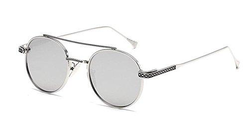 inspirées soleil retro cercle style Blanc de du métallique Mercure rond vintage Lennon en lunettes polarisées 5twYqxCx