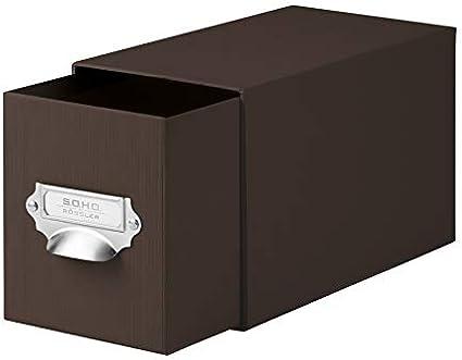 Rössler 1327452870 - Estantería combinada para CDs y DVDs, color marón, 1 unidad: Amazon.es: Oficina y papelería