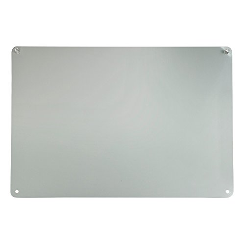 Houseables Magnetic Board, Magnet Display, Bulletin Panel, 17.5'' Wide x 12'' High, Small, Grey, Metal, Steel Sheet, Heavy Duty, Decorative Memo, Dry Erase, for Wall, Refrigerator, Writing, Kids by Houseables