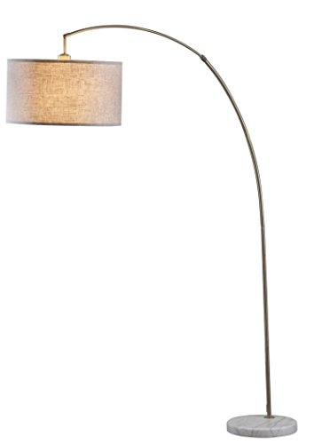 "Major-Q 6931-AB-LED Steel Adjustable Arching LED Floor Lamp, 81"" H"