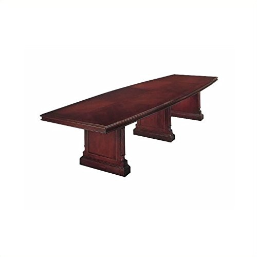 DMi Furniture DMi Keswick Boat Shaped 12' Conference Table with Slab Base in (Keswick Boat)