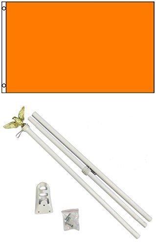 Moon Knives 3x5 Advertising Solid Orange Flag White Pole Kit