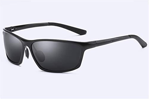 Completo UV Viajar Gafas Aluminio de polarizadas protección Marco de magnesio conducción Sol Retro de Gafas y Sol Negro para XIYANG Black Hombres Hgxw6tTqg
