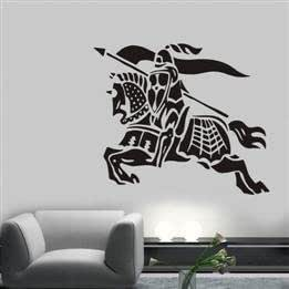 Knight Pattern Home Decor Removable Waterproof PVC Wall Sticker
