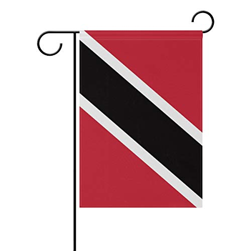 (Ainans Decorative Hello Welcome Flag of Trinidad and Tobago Garden Yard Flag Banner for Outside House Flower Pot Double Side Print 40 x 28 & 12 x 18 Inch)