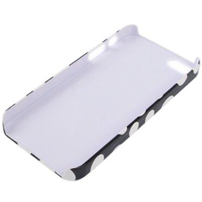 Mxnet Patrón de punto blanco y negro pegando la piel caso plástico para el iPhone 5 y 5s y SE Fundas ( Color : Red ) Black