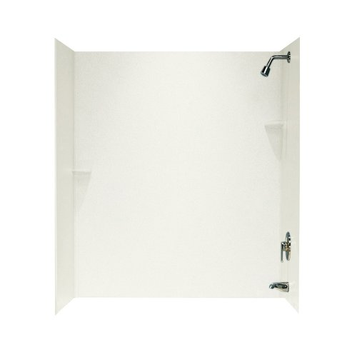 Swanstone SS-72-3-018 Solid Surface Bathtub Wall Panel System, 30-Inch x 60-Inch x 72-Inch, Bisque, 3-Piece