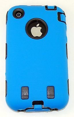 Body Armor Hybrid Shell Case Cover for Apple iPhone 3G / 3GS - Blue & Black New (Body 3gs Armor Iphone)