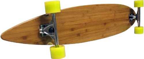 BAMBOO LONGBOARD 9x43 Complete Pintail Cruiser Skateboard Downhill Trucks 70mm