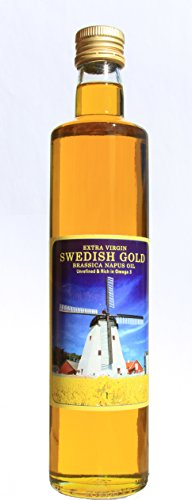 The Amazing, Healthy, High Heat High Omega 3 Organic Swedish Gold Oil for All Food Preparations. Versatile: For Salad Dressings, Sautéing, Frying, Grilling, Baking. Cold Pressed