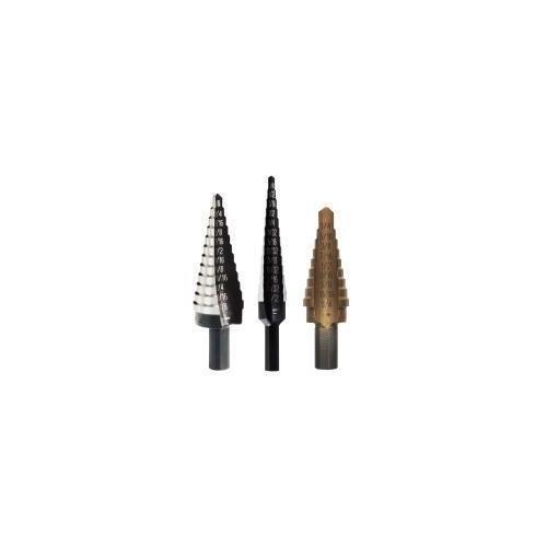 4 Piece Unibit Set - Irwin Brand Unibit 3 Piece Step Drill Set 15504SM #1 #3T #4